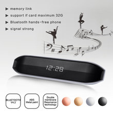 Wireless Bluetooth Speaker LED Clock Display Support TF Card AUX FM Radio Subwoofer Soundbar Loudspeaker For Phone Xiaomi цена 2017