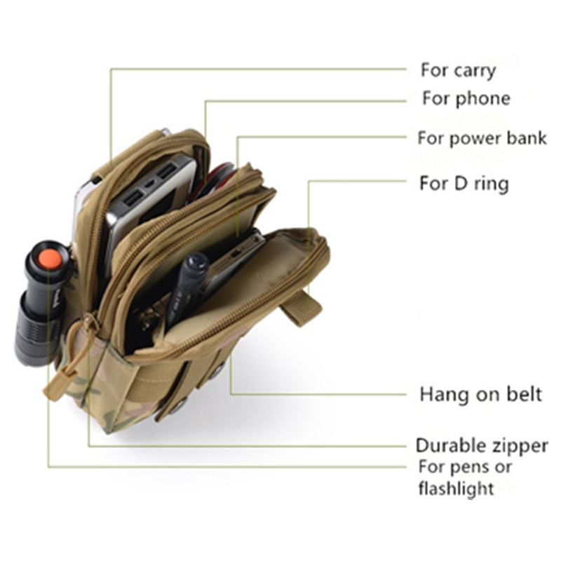 Outdoor tool Tactical Pouch Military Army Backpack phone Case Pocket fishing camp hike climb hunt waist bag EDC in Outdoor Tools from Sports Entertainment