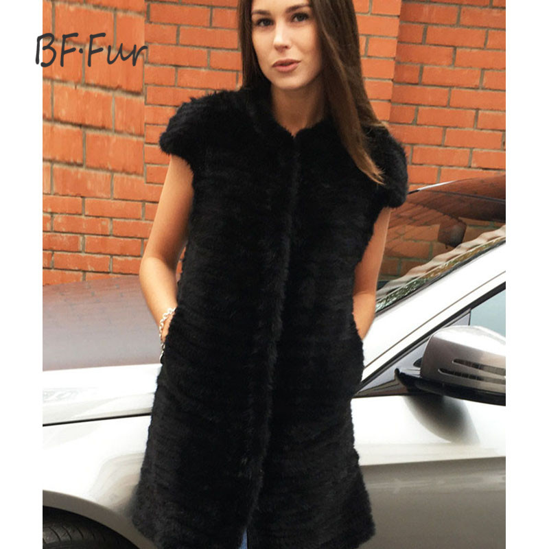BFFUR new 2018 Luxury 100% Knitted Mink Fur vest Spring and autumn fashion thin fur Handmade Cheap Mink Fur vest style M180123 1