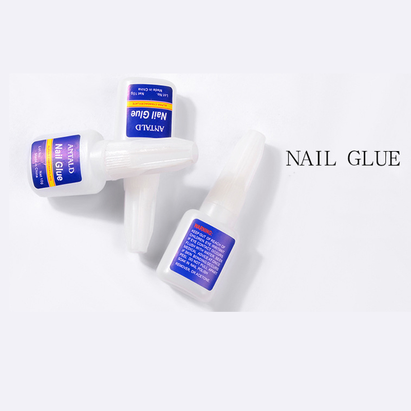 1pcs 10g Nail Glue Glitters DIY Nail Art Deco Acrylic Tips Adhesive Tool Fast Drying Manicure Glue with Brush Acrylic in Nail Gel from Beauty Health