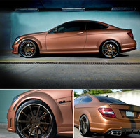 Bronze Satin Chrome Vinyl Wrap Car Wrapping Film For Vehicle Styling With Air Release Matt Chrome