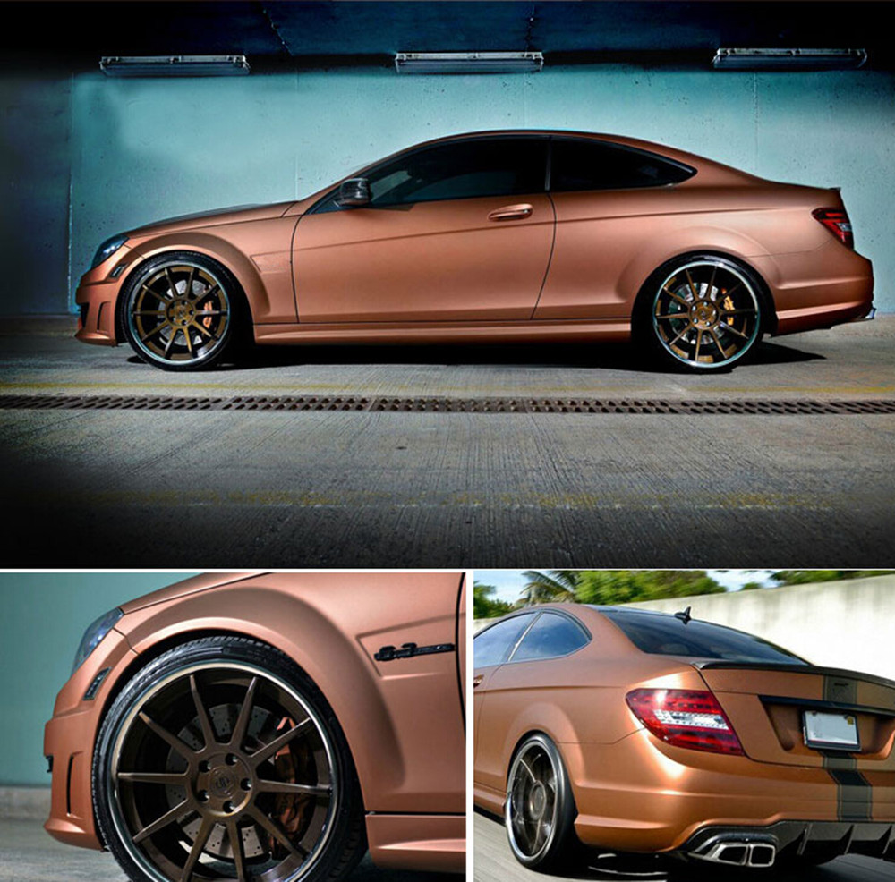 Bronze Satin Chrome Vinyl Wrap Car Wrapping Film For Vehicle Styling With Air Release Matt Chrome Foil 20