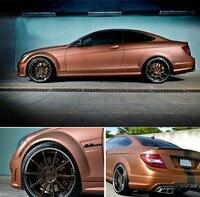 Bronze Satin Chrome Vinyl Wrap Car Wrapping Film For Vehicle styling With Air Release matt chrome Foil 20 x 60(50cm x 152cm)