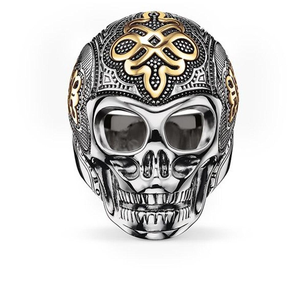 925 Sterling Silber & Gold-farbe Liebe Knoten Skeleton Schädel Ringe, Europäischen Meisten Mode-ring Schmuck Liebe Beste Geschenk Für Frauen Männer Um 50 Prozent Reduziert