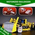 LEPIN 20008 1384 UNIDS serie técnica contro remoto l el bulldozer Modelo de kits de Montaje de bloques de Construcción Ladrillos Compatible 42030