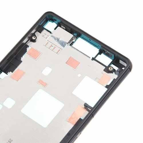 Original pour Sony Xperia Z3 D6603 D6653 boîtier de châssis de plaque de cadre avant moyen avec pièce de rechange de clé latérale