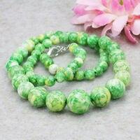 Accessories Elegant Tower Necklace Semi Precious Stone Gems Riverstone Rain Flower Rainbow Jasper Jewelry For Women