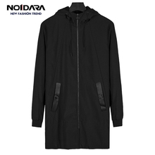 NO.1 DARA long trench coat mens brand clothing casual fashion jackets men quality hooded male casaco masculino
