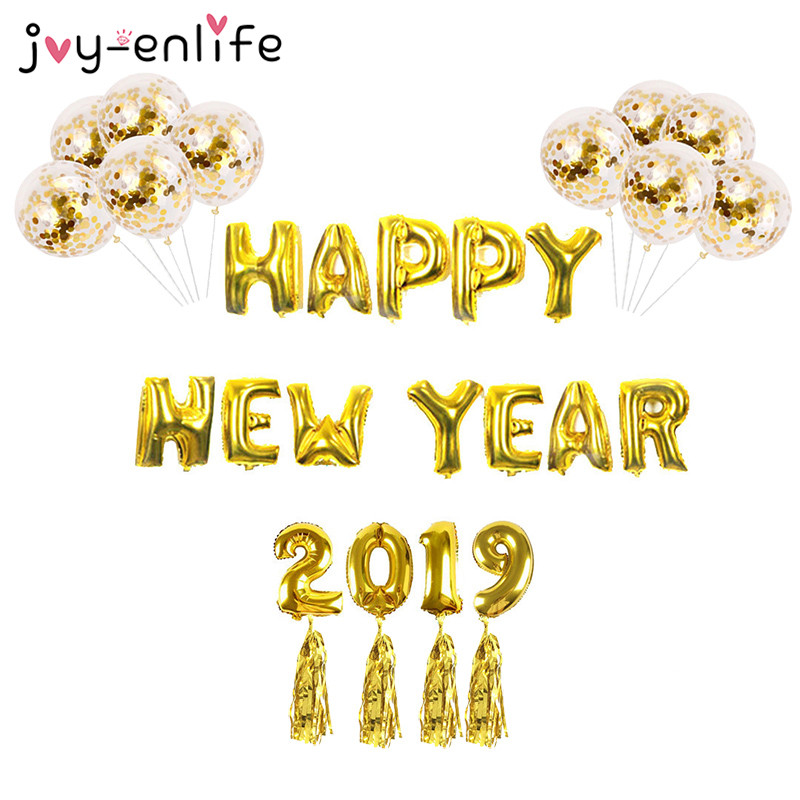 2019 Happy New Year Foil Balloons Eve Party Decoration ...