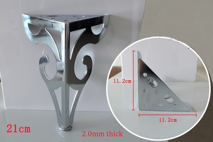 4PCS/LOT Premintehdw H21CM European Style Flower Adjustable Metal Leg Feet Sofa Furniture Cabinet Cupboard With Screws 1000kgs 3 3m cheap semi electric wide leg stacker with adjustable feet for standard two face pallete