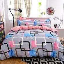 4 unids ropa de cama de algodón establece súper rey funda nórdica juego de cama de La Manera gris hoja de poliéster ropa de cama cubierta de funda nórdica 5 tamaño Adulto