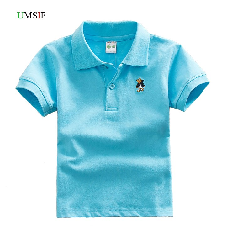 2018 Hot kids boy summer short sleeve polo shirt children school teen boy 2 6 8 10 12 em ...