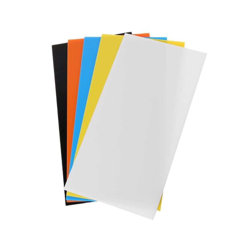 10X20cm Acrylic Board Plexiglass Board Colored Acrylic Perspex Sheet DIY Model Making Accessories