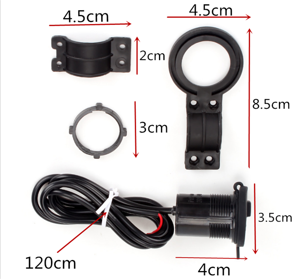 12V auto und motorrad zubehör USB telefon steckdose ladegerät für YAMAHA YZF R15 XT660 X R Z TMAX 500 530 TMAX500 530