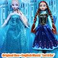11.5 Inch Anna Elsa Dolls Musical Toys Sing Let It Go Anna Elsa Princess Christmas Gifts For Girls Bonecas Princesa Elsa Anna