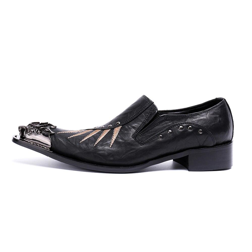 Pico Para Do Aço Sapatos Formal Oxford Couro Negócios Dedo Europeus De Apartamentos Preto Pé Baile Escritório Genuíno Vestido Dos Homens 5SxapSwg