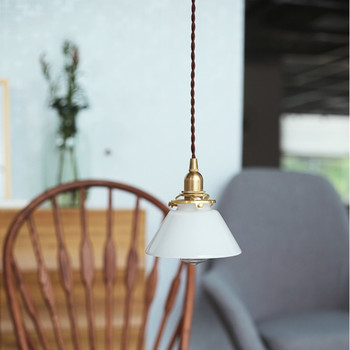 Glass Japanese-style simple hanging lamp modern small chandelier Bucket restaurant aisle bar chandelie LL03161421