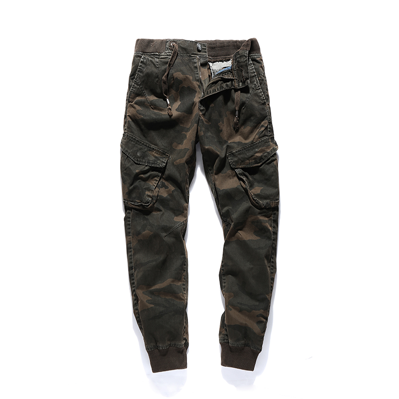 2018 New High Quality Jogger Camouflage Pants Men Casual Cotton Fitness Runners Trousers Comfortable Sweatpants Autumn Cargo Man