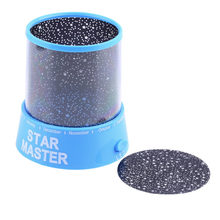 Romantische Cosmos Maan Kleurrijke Master Star Sky Night Light Kid Chidren Projector lamp Valentijnsdag Gift Present 2017 Hot(China)