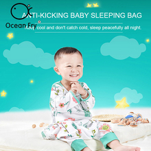 Baby Sleeping Bag Combed Cotton Soft Micro-Bomb Ventilation Comfortable Anti-Pilling Removable Sleeve