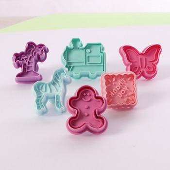 3D Cartoon Toys Cookie Cutter Animal Mold Plunger Sugarcraft Biscuit Baking Mould DIY Fondant Decorating Tools Baby Gift