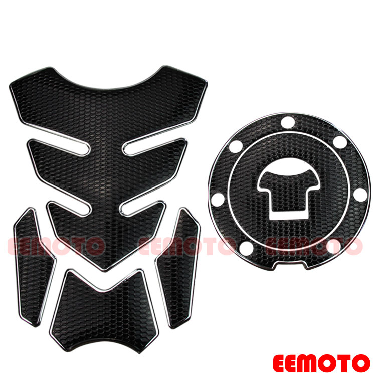 Carbon Fiber Tank Pad Sticker Decal Emblem Fit For Honda CBR400//600//1000//1100XX