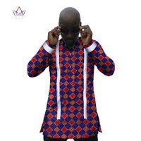 Custom Mens Flannel Shirts Men Shirt Long Sleeve Slim Fit Fashion Dashiki Men African Print Wax Plus Size African Clothing WYN31