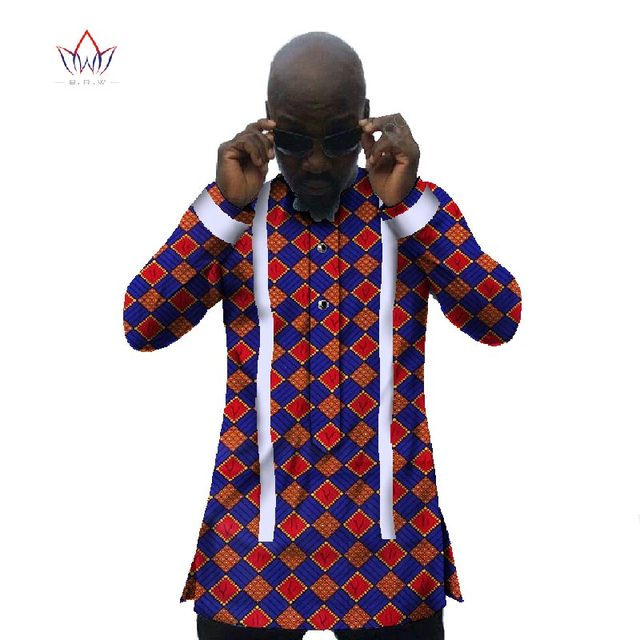 cb5144a6f8a Custom Mens Flannel Shirts Men Shirt Long Sleeve Slim Fit Fashion Dashiki  Men African Print Wax Plus Size African Clothing WYN31