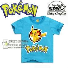 Pokemon Go Pikachu Tshirt Kids Tops Cartoon BoysTshirt Short Sleeve Baby Print Tee Children Girls Boys Fashion Clothes