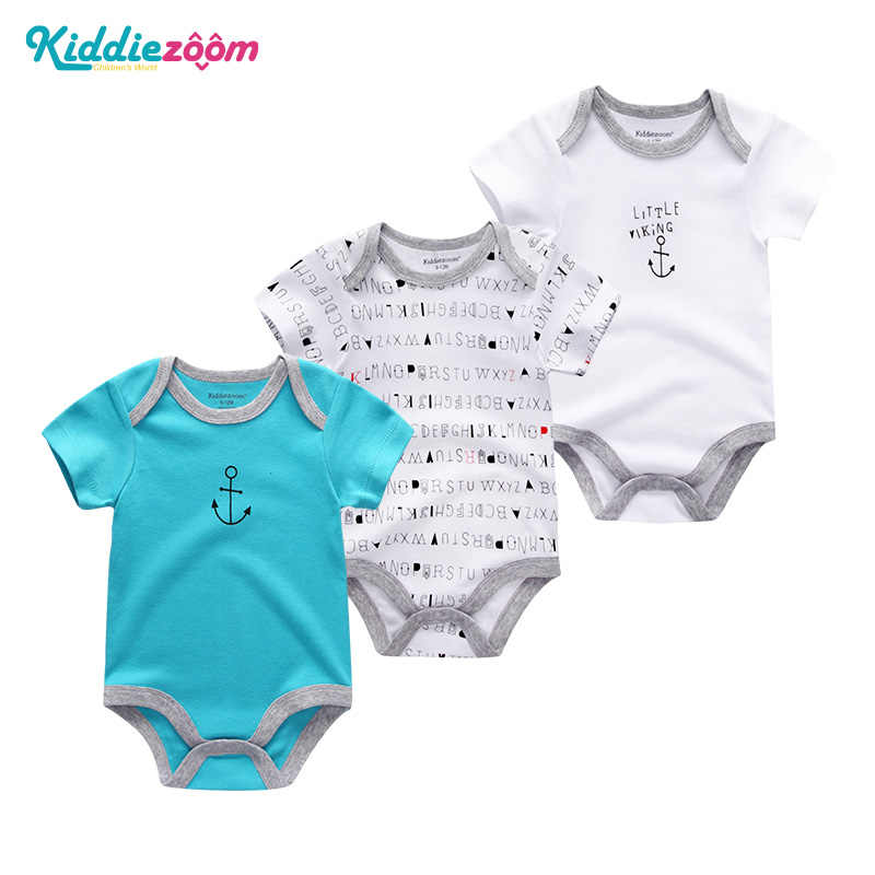 The New Newborn bodysuit Infant Clothes 3 6 9 month Cotton Short Sleeves Striped roupas de bebe baby Boy Girl Clothing sets