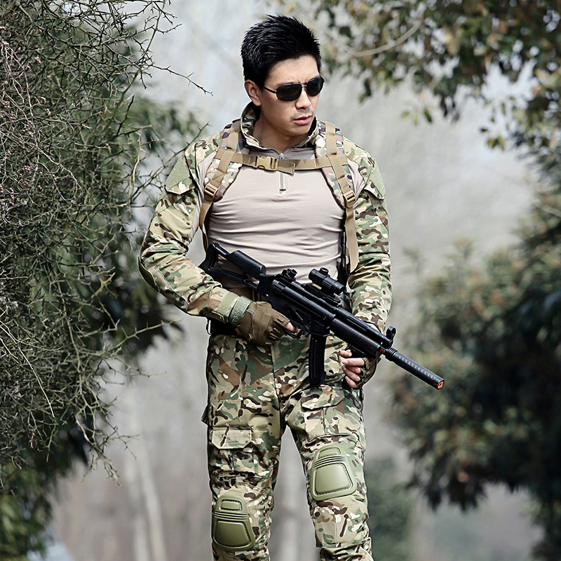 Army clothing Tactical military uniforms Camouflage hunting suits Outdoor sports CS suits Tactics combat uniforms Tactical Gear windproof realtree camouflage suits wild hunting clothing oem vision