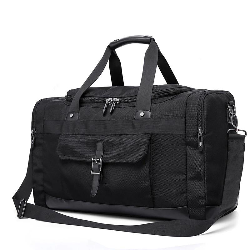 Multifunction Men Travel Duffel Bag Unisex Weekender Bag TSA Friendly Oxford Carry on Luggage Large Capacity