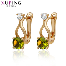 xuping fashion earring special design 18k gold color plated new jewelry for women
