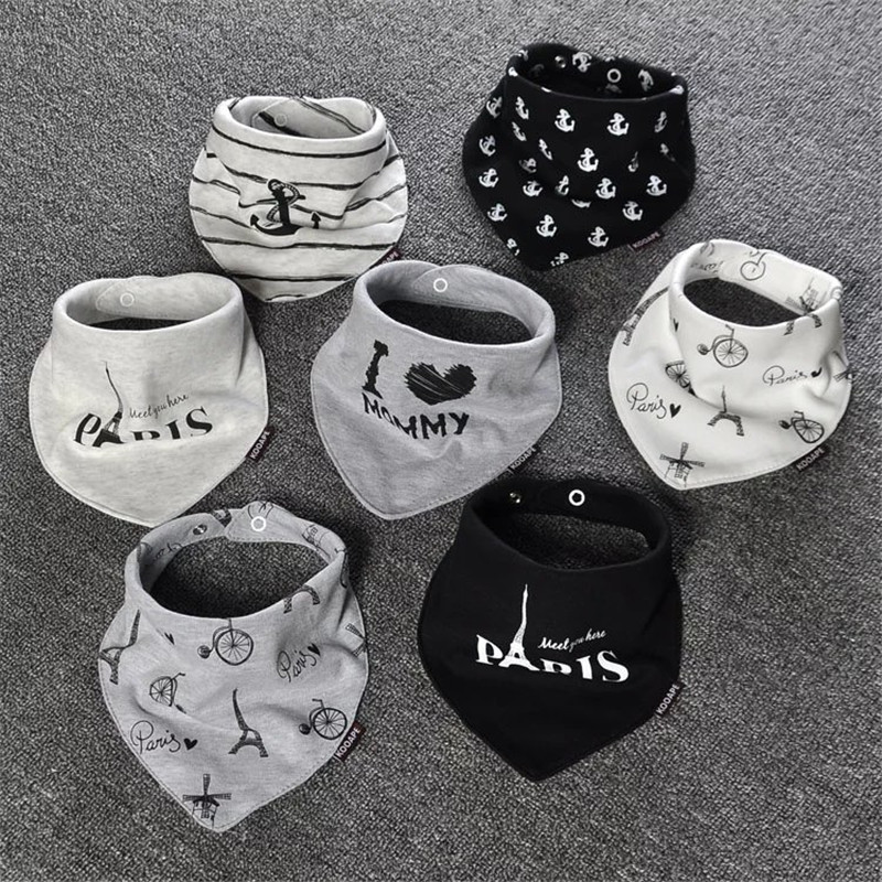 Hot sale 2 Pcs/lot Baby Bibs Bandana Cotton Double Layers Drool Bib Child Boys &Girls Triangle Bibs Bandana Infant Towel DS19 bandana husky bandana