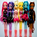 6 pcs/ set 25cm poni pvc action figures toy  Princess Celestia  Unicorn  plush  doll for baby Christmas gift