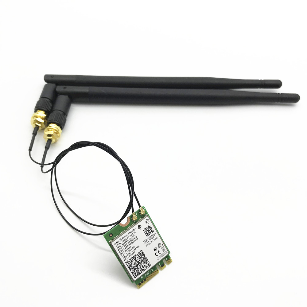Avec 4Dbi Double Bande Antennes 9260 9260NGW 802.11ac 1730 Mbps WiFi Bluetooth 5.0 NGFF/M.2 Carte pour ordinateur de bureau