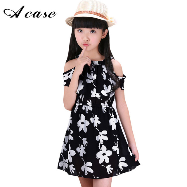 White Girl Fashion: 2018 Summer New Children Clothing Dress Little Girls