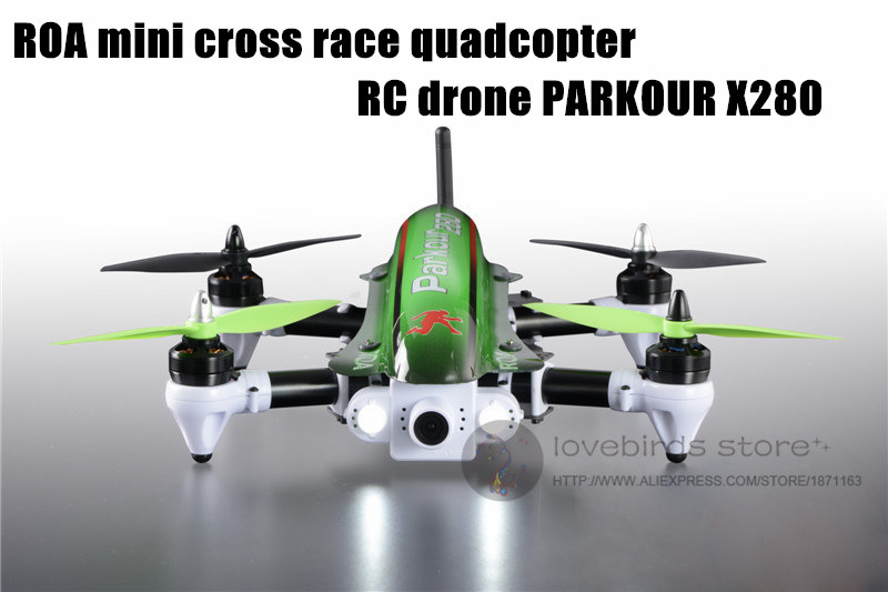 The newest 2.4G RC mini drone ROA FPV racing folding quadcopter with camera 6 channels PARKOUR X280 RTF QAV250