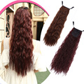 24inch Long Curly Pony Tail Synthetic Fake Hair Ponytails Hairpiece For Lovely Girl Clip In Curly Ponytail Hair Extension