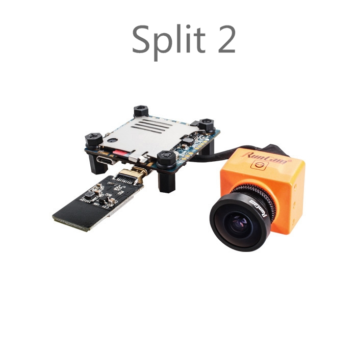 Split mini/Split 2 RunCam FPV WiFi Fotocamera da 2 Megapixel 1080 P/60fps HD registrazione più WDR NTSC/PAL per le Corse Drone Quadcopter