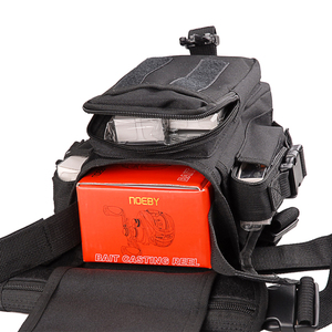 Image 5 - Multi Purpose Fishing Bag 19.5*12.5*9.5cm Waterproof Outdoor Leg Bag Canvas Portable Multifunction Fishing Tackle Bag Backpack
