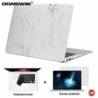 DOWSWIN For Macbook Air 13 Case 13 3 Inch PC Marble Pattern Anti Dust Transparent Back