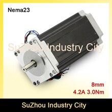 NEMA 23 С ЧПУ Шагового двигателя 57×112 мм 8 мм nema23 3N. m шагового двигателя 4.2A 428oz-в для 3D принтер гравировальный CNC фрезерный станок