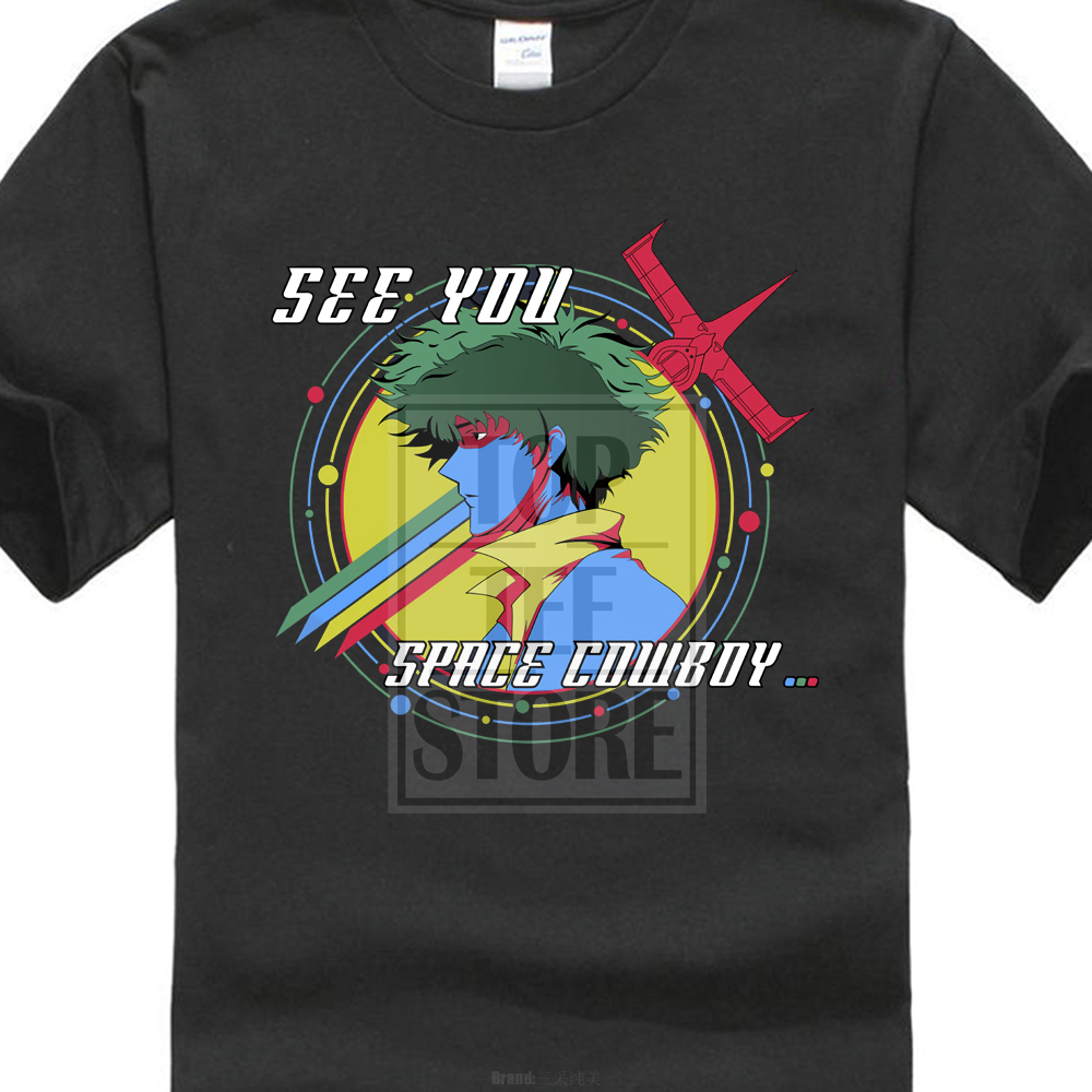 New Cowboy Bebop Abbey Road Space Character Movie MenS Black T Shirt S To 4Xl