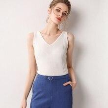 LHZSYY 100% pure Cashmere Vest Women' New Four Seasons For High-end Wild Pure Color Knit Vest Short soft Cashmere sweater Female недорго, оригинальная цена