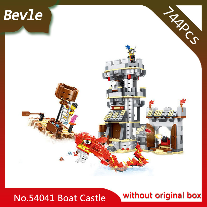 Bevle Store LEPIN 53041 744Pcs Movie Series Sea Monster Attack Modle Building Blocks set Bricks For Children Toys Wange Gift bevle store lepin 22001 4695pcs with original box movie series pirate ship building blocks bricks for children toys 10210 gift