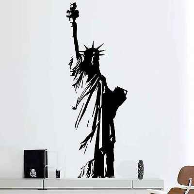 Large Size Vinyl Wall Decal New York Statua della Libertà, USA Libertà Art Decor Casa Sticker Soggiorno camera Da Letto E551