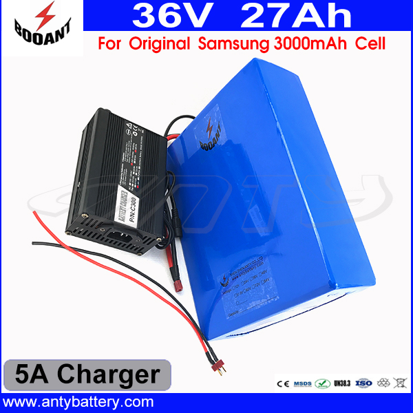 36V 1500W Electric Bike Battery 36V 27AH Lithium ion Battery 36V For 18650 Cell With 50A BMS 5A Charger e Bike Battery 36V diy 48v 1000w samsung cell electric bike lithium battery 48v 30ah li ion 18650 battery with 30a bms for e bike battery