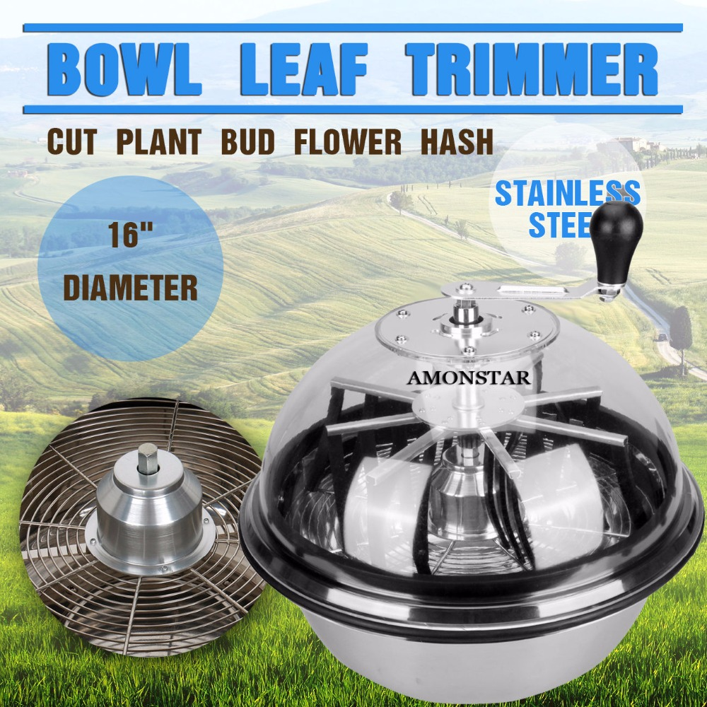 (Ship FROM EU) Professional 16 Twisted Trimmer Hydroponics Stainless Bowl Leaf Plant Bud Spin with Wire blades(Ship FROM EU) Professional 16 Twisted Trimmer Hydroponics Stainless Bowl Leaf Plant Bud Spin with Wire blades