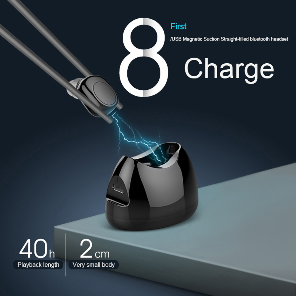 New Fashion Magnetic Charging Compact and Lightweight Mini Bluetooth In Ear Wireless Earphone Headset Magnetic Charging Box